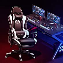 CRYfog Gaming Chair with Footrest, PC Gaming Computer Chair Office Gamer Chair with Lumbar...