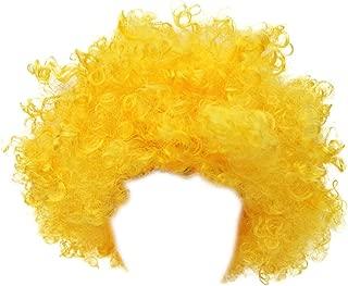 Multifit Unisex Halloween Party Curl Wigs Fan Wig Afro Clown Costume