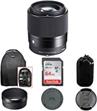 $314 » Sigma 30mm f/1.4 DC DN Contemporary Lens for Canon EF-M with 64GB SD Card and Travel Bundle (4 Items)
