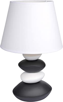 HOMEA 6LCE073BC LAMPE, CERAMIQUE, 40 W, BLANC, L.30l.30H.47.5CM