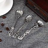 Omabeta Lavorazione Standard Materiale Durevole Cucchiaino Stoviglie da Cucina Colore Puro Moda Retro Cucchiaino da caffè Cucchiaio Piccolo Cucchiaio da Dessert per Cucina per Uso Domestico