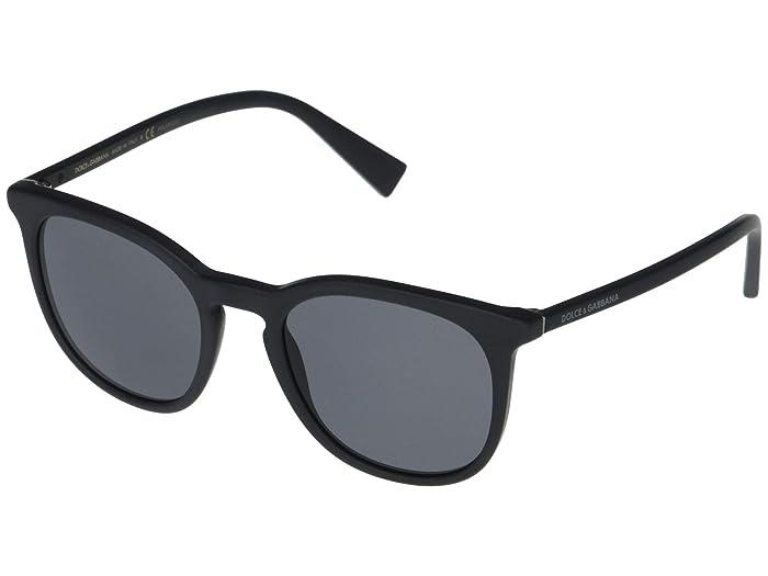 Dolce and Gabbana  DG4372 (Matte Black/Polarized Grey) Fashion Sunglasses