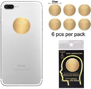 Anti Radiation Shield EMF Protection Sticker,EMR Blocker for All Mobile Phones, iPad, MacBook, Computer, Laptop (Gold 6pcs)