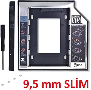 Alfais Al-4716 9.5mm SATA HDD Harddisk Caddy Kızak Kutu Laptop SSD Notebook Ikinci HDD Takma