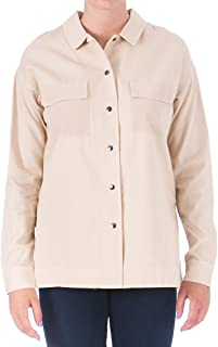 Elizabeth and James Hayden Shirt Jacket, Beige, Small