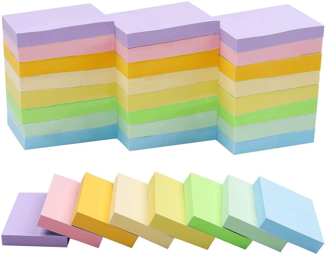 Manufacturer regenerated product Luxury Sticky Notes 1.5x2 Inches 48 Colors Pads Light Self-Stick