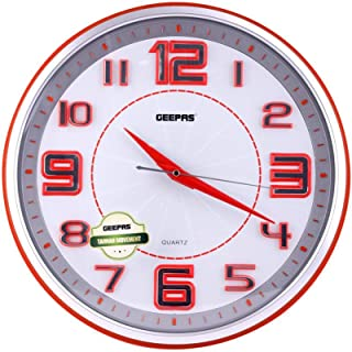 Geepas decorative Clock, Multi Multi-Coloured 2724588584346, AA
