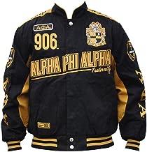 Big Boy Headgear Alpha Phi Alpha Fraternity Mens Racing Twill Jacket Black