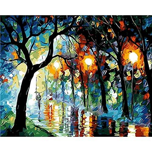 Pintura pareja abstracta sobre lienzo pintura acrílica para adultos arte de la pared imagen al óleo dibujo para colorear por número decoración del hogar W12 40x50cm