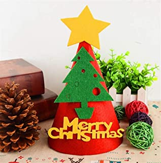 Perfect Party Decoration Holiday Accessories DIY Handmade Hat Christmas Hat Holiday Party Hat Christmas Decorations(Christmas Tree)