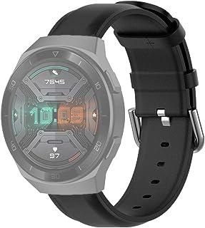 أساور استبدال الساعة الذكية الأنيقة الإبداعية لهواوي ووتش GT 2e 22 مم حزام جلدي مع مشبك خلفي دائري إكسسوار الساعة الذكية