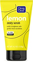 Clean & Clear Lemon Zesty Facial Scrub with Lemon Extract & Vitamin C, buffs & brightens with gentle micro-scrubbies, Oil-Free Vitamin C Face Scrub, 4.2 oz Vitamin C Facial Scrub (Pack of 2)