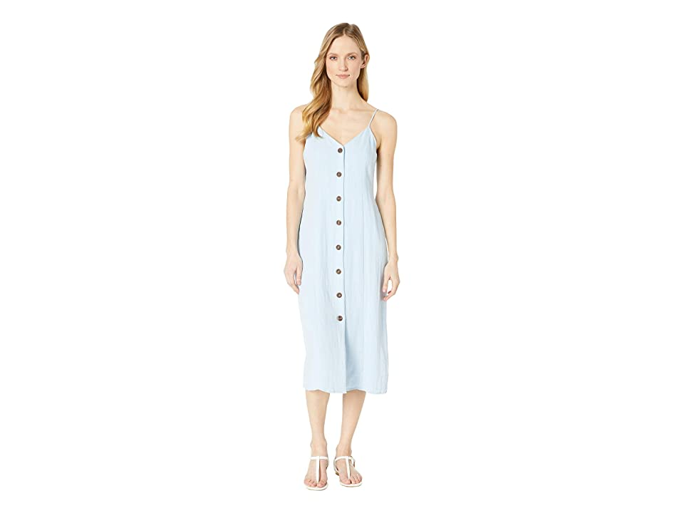 American Rose - American Rose Bex Spaghetti Strap Button Up Dress