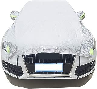 JUST N1 Safe View Half Car Cover Top Waterproof Dustproof Windshield Cover Snow Ice Winter Summer Windshield for Sedan SUV