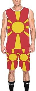 Lumos3DPrint Macedonia Flag Men's Basketball Jersey Tank Top and Shorts