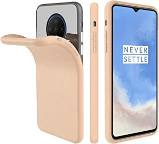 Compatible with OnePlus 7T Case, Forhouse Anti-Scratch Cover Slim Soft TPU Bumper Flexible Rubber Silicone Shockproof Case for OnePlus 7T (Sandstone Pink)