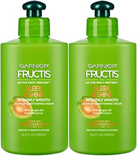 Best Garnier Fructis Sleek and Shine Intensely Smooth Leave-In Conditioning Cream, 10.2 Ounce (Pack of 2) Reviews