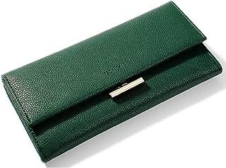 Pusaman PU Handbag, Women's Long Wallet (Color : Green, Size : 19.3 * 3 * 9.5cm)