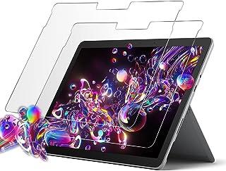 Surface Go 2 フィルム タブレット ガラスフィルム 貼り付け失敗無料交換 2020 専用 保護フィルム 強化ガラス (2枚セット)【硬度9H/透過率99%/薄/気泡ゼロ/貼り付け簡単/割れない】