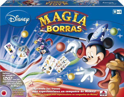 Borras- Magia Edición Mickey Magic, 15 trucos, contiene DVD, a partir de...