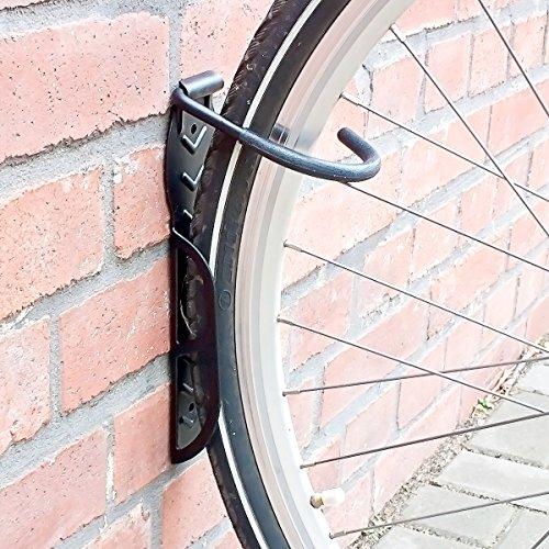 Relaxdays Fahrradhalterung 2er Set, Fahrrad Wandhalterung, Zum Aufhängen, schwarz - 2