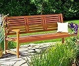 Deuba Gartenbank Bologna 3-Sitzer Eukalyptusholz Sitzbank Holzbank - 3