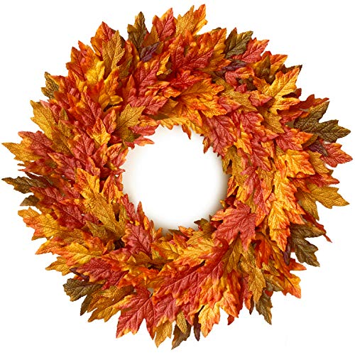 handcrafted fall wreath for front door