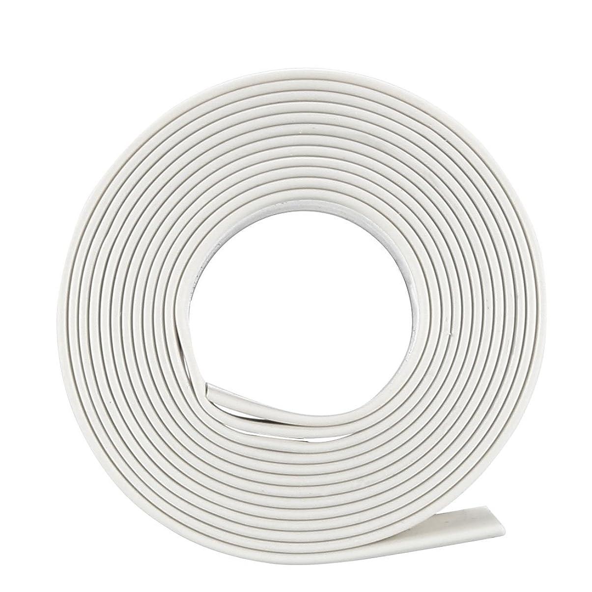 ケープクリスチャンどこuxcell 電気絶縁チューブ 熱収縮チューブ ワイヤ接続チューブ 縮小率2:1 直径8mm 長さ1m ホワイト
