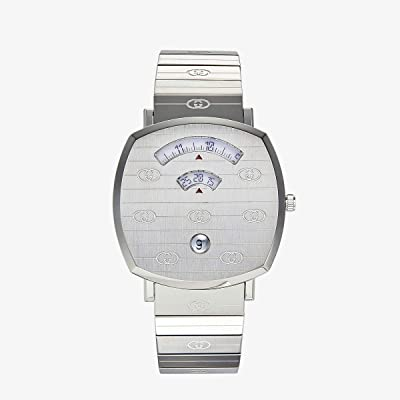 Gucci Gucci Grip (Silver Dial/Silver Bracelet) Watches