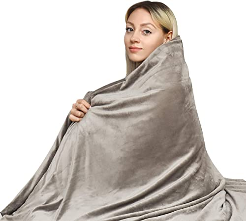 """high quality Giantex Weighted Blanket with 200GSM Crystal Velvet Cover 20lbs 