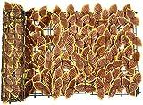 Malla De Ocultacion Jardin Ocultacion Jardin Paneles de Cobertura de Hojas de Hiedra de proyección Artificial Valla de jardín de privacidad Pantalla de Valla de privacidad de Hiedra Artificial HSWYJ