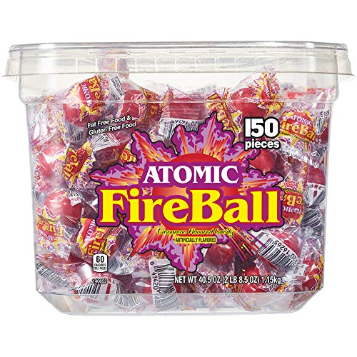 Atomic Fireballs Candy 2 Pound Tub
