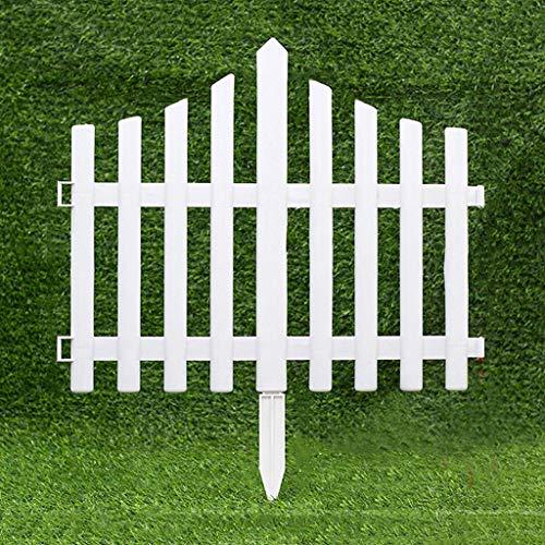 WXQIANG Garten Schienen-Zaun Weiß Pickets, Packung 4 x Gras Rasen Blumenbeete, Kunststoff dekorative Zäune, Innenaußenterrasse, 30x45cm, Weiss