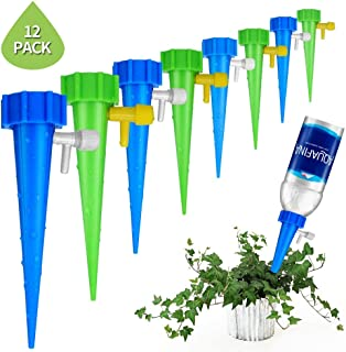 Sheila Plant Self Watering Adjustable Stakes System 12Pcs/Set Vacation Plant Waterer Self Automatic Watering Spikes Irrigation System