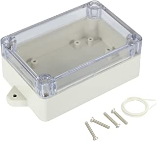 uxcell 100mmx68mmx40mm 3.9 inches x 2.7 inches x 1.6 inches ABS Junction Box Universal Project Enclosure w PC Transparent Cover