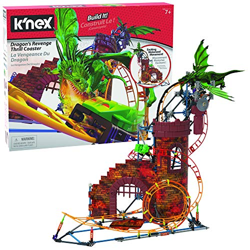 K'NEX Dragon's Revenge Thrill Coaster - 578 Parts - Roller Coaster Toy - Ages 7 & Up