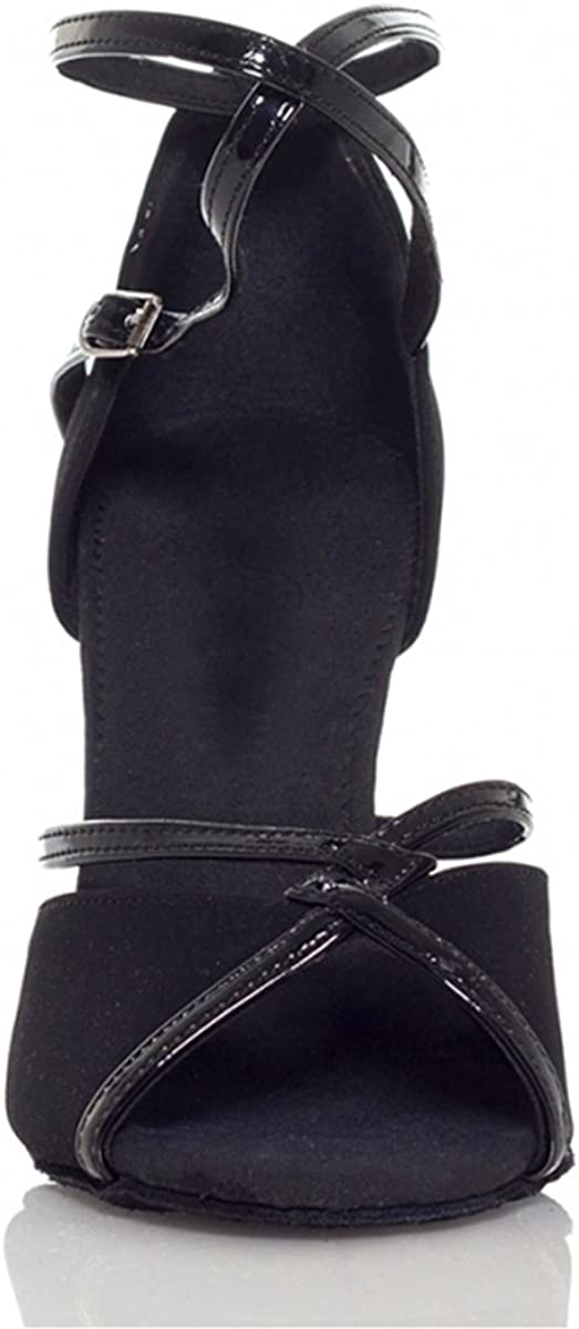 Minishion L194 Women's High Heel Suede Leather Latin Salsa Ballroom Dance Sandals