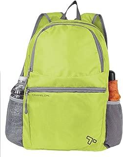 Travelon Packable Multi-Pocket Backpack, Lime