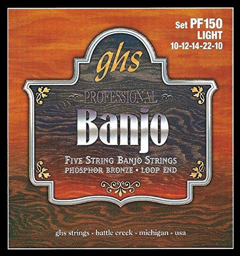 GHS PF150 5-string Banjo Saiten, Bronze, Light, 10-10