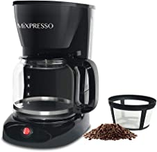 12-Cup Drip Coffee Maker, Coffee Pot Machine Including Reusable And Removable Coffee Filter - By Mixpresso