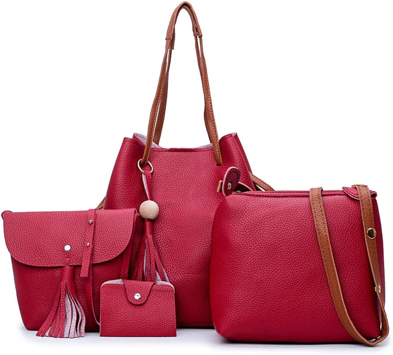 Chengzuoqing Frauen Sets Tasche Pu Lederhandtasche Schultertasche