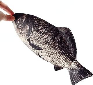 Funny live Simulated Fish Pencil Case Crucian Carp Fish Pen Pouch Alternative Change Purse Phone Bag