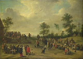 Perfect Effect Canvas ,the High Definition Art Decorative Canvas Prints Of Oil Painting 'After David Teniers The Younger A Country Festival Near Antwerp ', 24 X 34 Inch / 61 X 86 Cm Is Best For Hallway Gallery Art And Home Artwork And Gifts