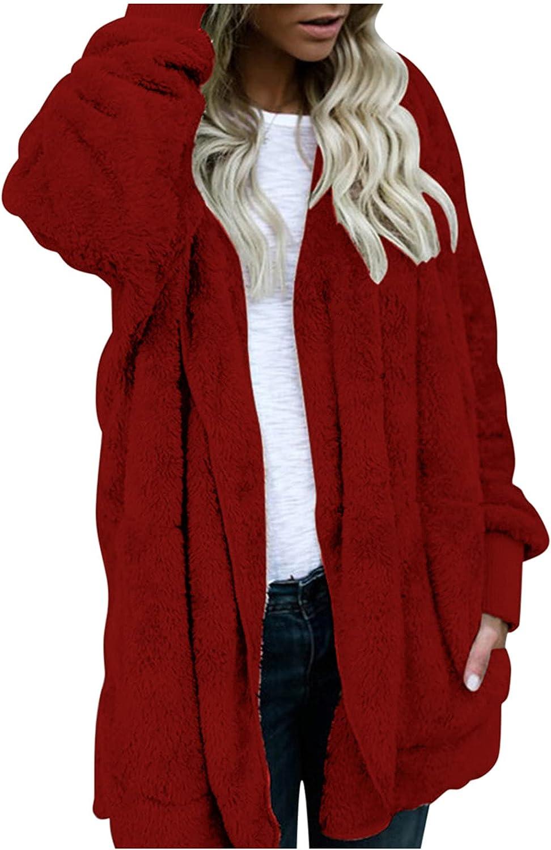Women's Winter Solid Color Plush Warm Faux Fur Cardigan Reversib