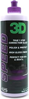 3D Speed All In One Polish/Wax – 16 oz. | Clear Coat Car Polish and Wax in One |..