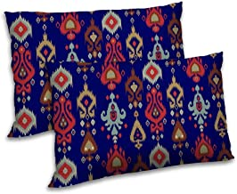 RADANYA Damask Printed Pillow Cover Set of 2 Rectangular Polyester Drawing Room Cushion Case 18x27 Inch