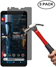 EVERMARKET Premium Privacy Anti Spy Tempered Glass Screen Protector Flim for Google Pixel 2 XL (3 Pack)