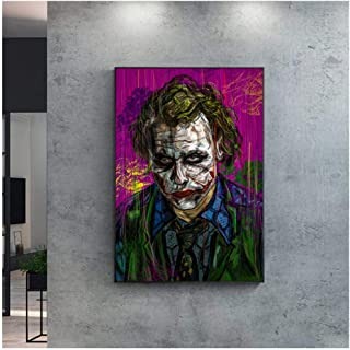 Cjyrjcc Modern Wall Art The Joker Canvas Painting Poster Abstract Portrait Posters And Prints For Living Room Home Decor P...
