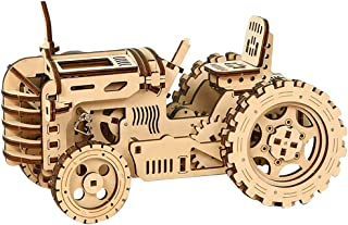 yeesport 135PCS 3D Tractor Model Fun Interactive DIY Funny 3D Tractor Puzzle Wood Tractor Puzzle Wood Puzzle Kits