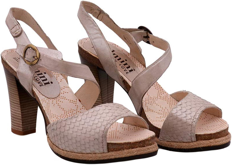 Felmini - Damen Schuhe - Verlieben Dania 8977 - Sandalen - Echtes Leder - Beige